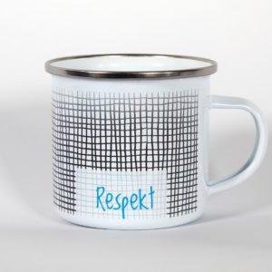 Emaillebecher-Respekt