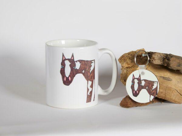 Keramikbecher und Schlüsselanhänger Ole-Design02
